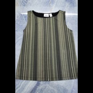 Chico's Green stripped top